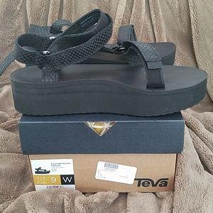 Never worn Teva Flatform Sandals